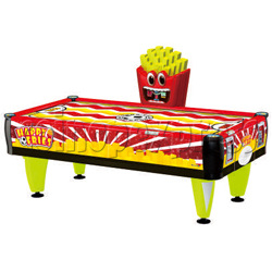 Happy Fries Coin-Operated Air Hockey Table for Adults