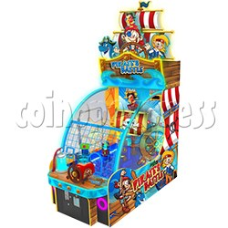 Pirate Battle Water Shooter Game Machine With Hand Water Wheel Control