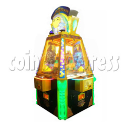 Treasure Pyramid Power Coin Drop Ticket Redemption Machine  4 players