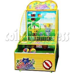 Jungle Basketball Ticket Redemption Machine 2 Players Version