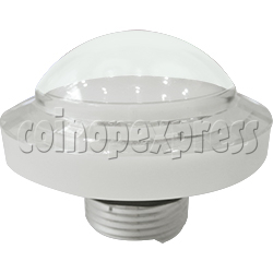 54mm Round Illuminated Push Button -White Color Body with Diamond Cut