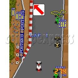 F1 Grand Prix Arcade Game Boards