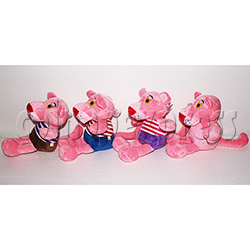 Pink Panther with Stripes Plush Toy 8 inch