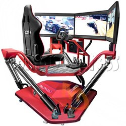 3 Fold Screen Virtual Reality Driving Car Arcade Game Machine
