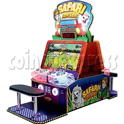 Safari Ranger 4 Player Ticket Redemption Game Machine