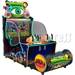Pea Shooter 2 Ball Shooting Ticket Redemption Arcade Machine