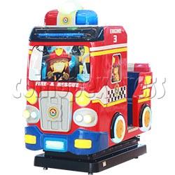 Fire Rescue Car Kiddie Ride Machine