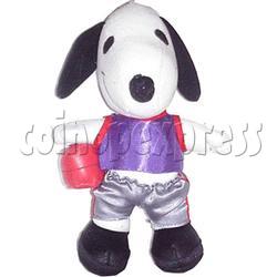 White Dog with Basketball