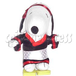 White Dog in Japanese Outfit