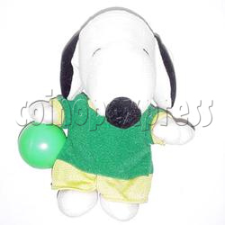 White Dog with Green Ball
