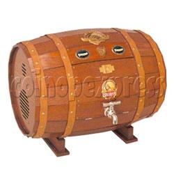 Wooden Barrel CD Radio Jukebox