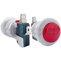 33mm Round push button with Microswitch transparent top