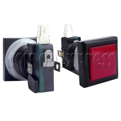 33mm Square Illuminated Push Button - Black Body with Color Top