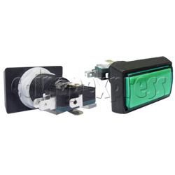 Rectangular Illuminated Push Button - Bevelled Edge
