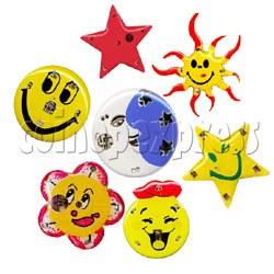 Moon & Smile Flashing Pins