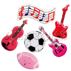 Sports & Music Flashing Pins