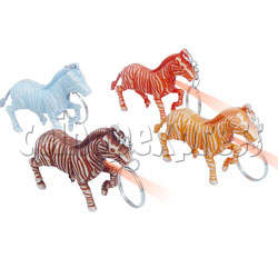 Zebra Light-up Key Rings
