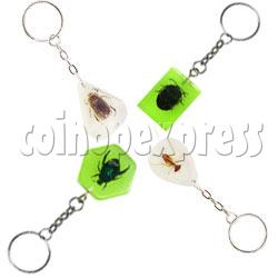 Fluorescence platic stone Key Rings