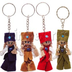 Plait Girl Keychains