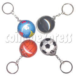 Sphere Within Sphere Keychain