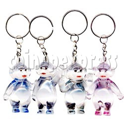Artificial Crystal Cartoon Key Rings