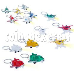 Mini Airplane Light-up Key Rings