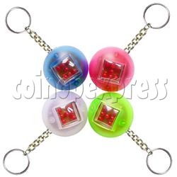 Automatic Digital Dice Key Rings