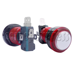 33mm Round Illuminated Push Button - Color Body with White Top