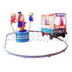 Single Cartoon Bus train