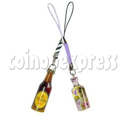 Flashing Bottle Mobile Strap