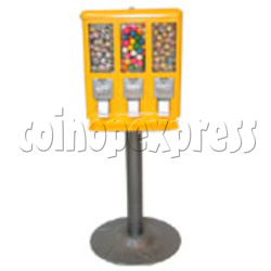 Triple Head Candy Vending Machine with Iron Stand