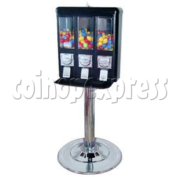 Triple Head Candy Vending Machine With Steel Stand
