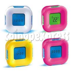 Rotating 4-in-1 Clock with Temperature Calendar