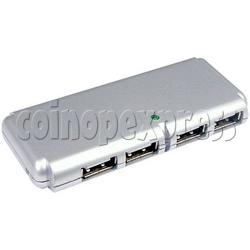4 Ports External Slim Mini USB Hub