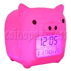 Piggy LCD digital alarm clock (7 colors change circularly)