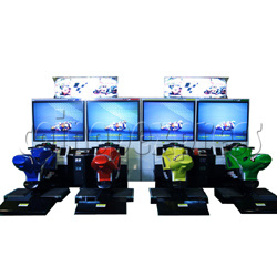 MotoGP bike racing machine (4 players, DX)