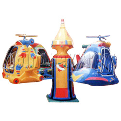 Helicopter and Planes Kiddie Rides