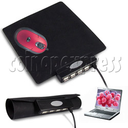Foldaway Mouse Pad with USB Hub