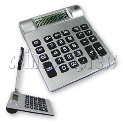 12 Digit Calculator with Pen Holder