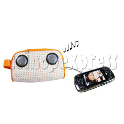 Cosmetic Bag with Speakers
