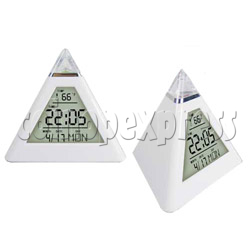 Pyramid Alarm Clock with Color Changing