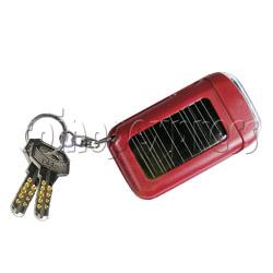 Solar Power Flashlight with Keychain