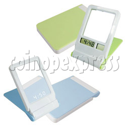 Mirror with LCD Clock