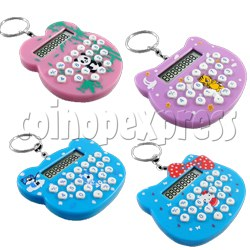 Mini cat style Calculator Key Ring