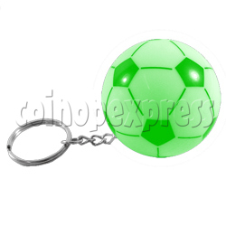 Football Shape Keyring With Colorful Flashing Light
