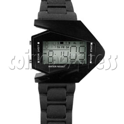 Digital Watch In Airplane Shaped