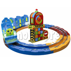Train Race kiddie ride (3 players)