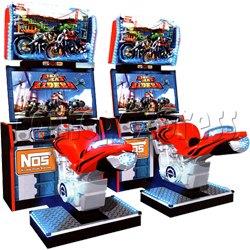 Dead Heat Rider - Twin Motorcycle Racing Video Arcade Game