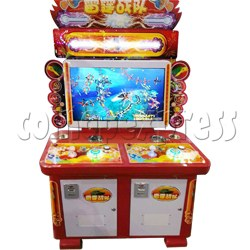 Thunder Helicopter Button Shooter (2 players)