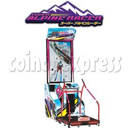 Super Alpine Racer Video Arcade Skiing Game